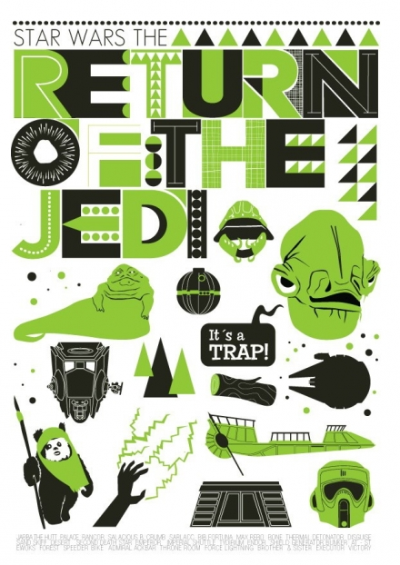 Star Wars - Return of the Jedi poster illustration art